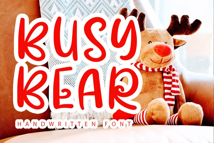 Busy Bear - Modern Monoline Font example image 1