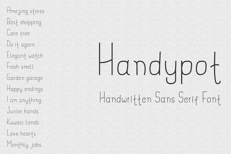 Handypot - Handwritten Font