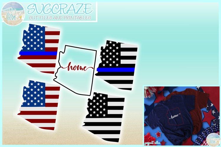 Arizona USA American Police Flag Patriotic Back The Blue SVG example image 1