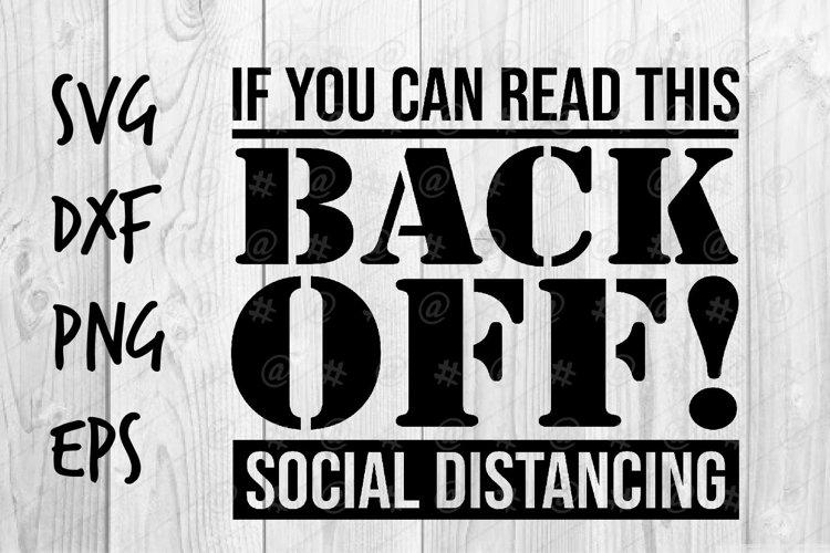 Back Off! social distancing SVG design example image 1