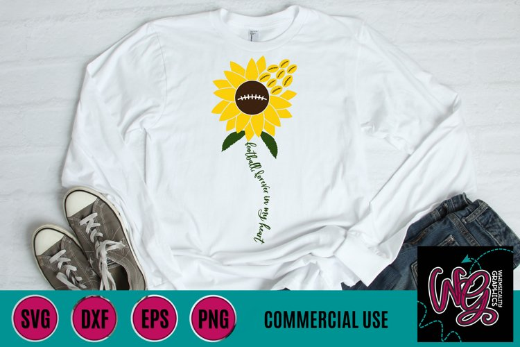 Sunflower Football SVG DXF PNG EPS Comm