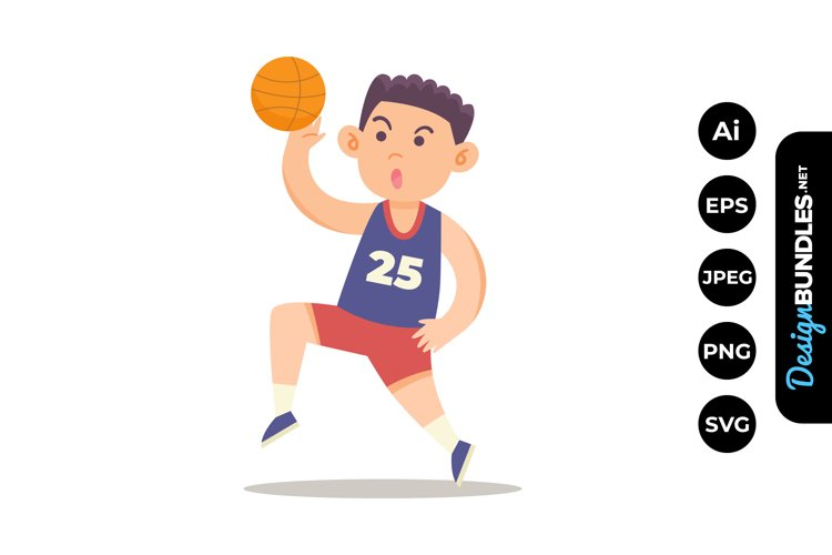 Playing Basketball Clipart example image 1