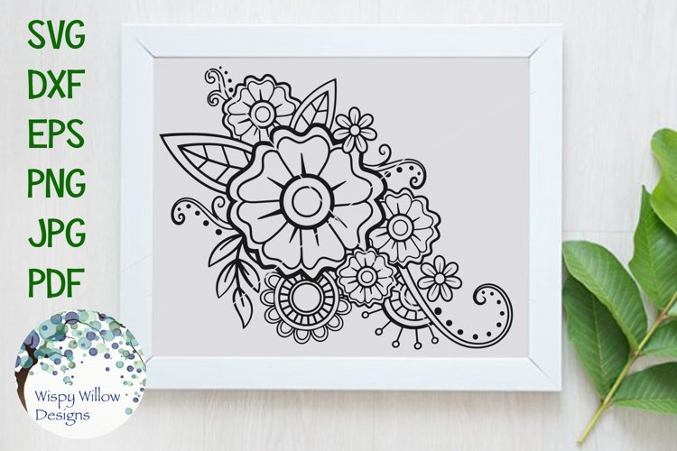Boho Flowers | Floral SVG example image 1