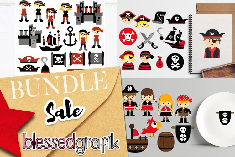 Illustrations Bundle - Pirate Clip Art