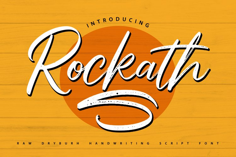 Rockaths | Handwriting Script Font example image 1