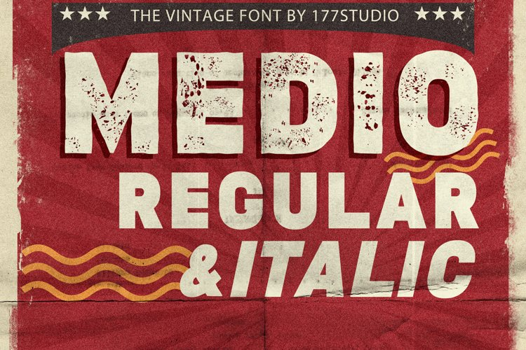 Medio Vintage Font example image 1