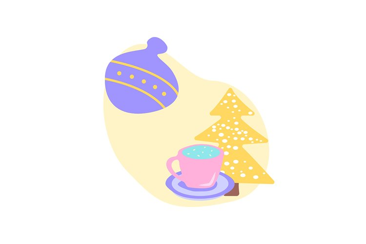 Christmas season flat vector concept illustration example image 1