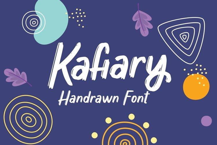 Web Font Kafiary - Handrawn Font example image 1
