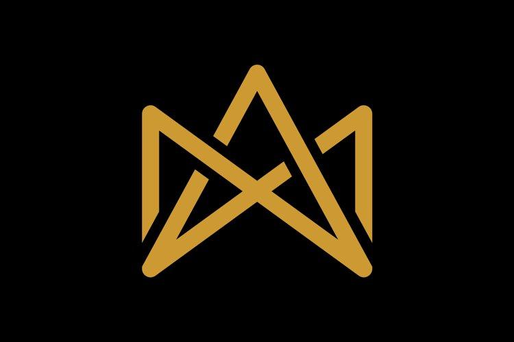 initial MA/AM luxury monogram logo template