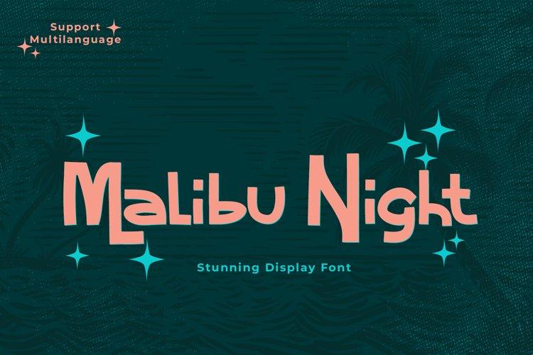 Malibu Night Stunning Display Font example image 1