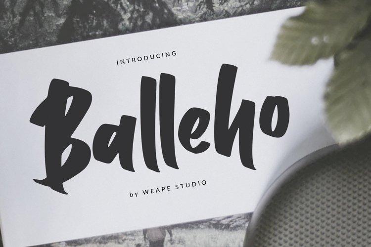 Balleho example image 1