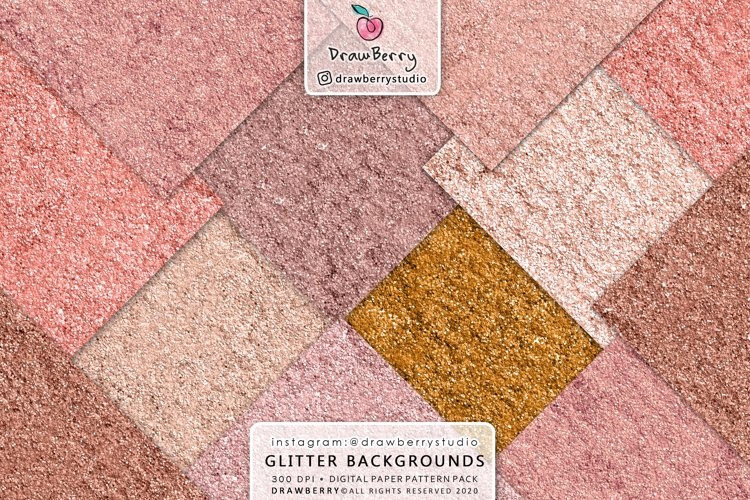 Rose Gold Glitter Texture Seamless Background example image 1