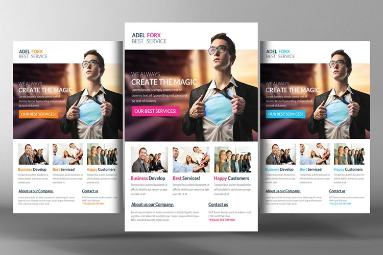 Pro Corporate Flyer Template example image 1
