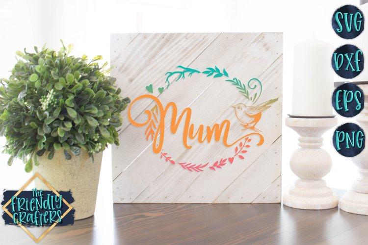 Mum Wreath - A Mom SVG