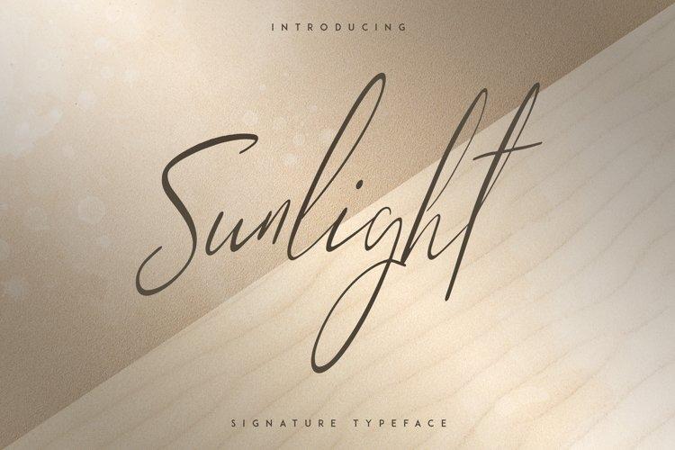Sunlight - Signature typeface example image 1