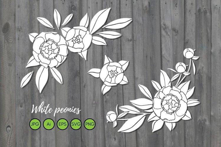 Flower bouquet svg, flower arrangement svg. Wedding flowers example image 1