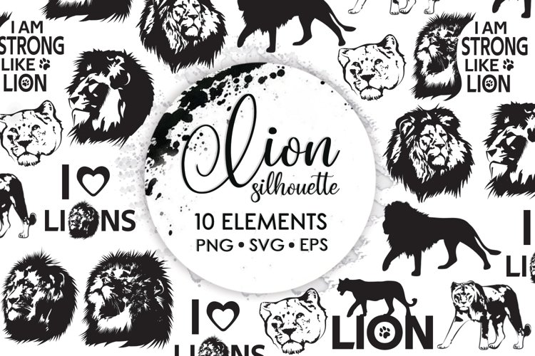 Africa Svg, Lion Head Drawing, Animal Silhouettes, Svg Files example image 1