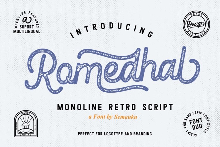 Romedhal Font example image 1