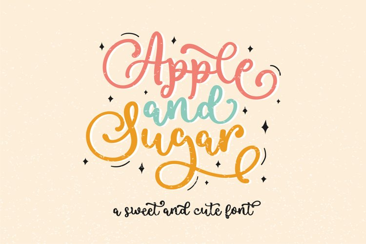 Apple and Sugar Font example image 1