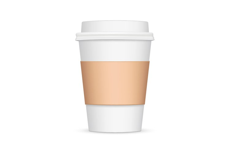 Coffee cup with sleeve mockup example image 1