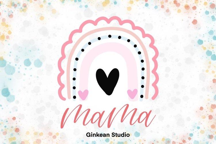 Mama rainbow, mom rainbow, mama rainbow clipart example image 1