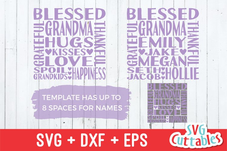 Grandma SVG | Grandma Subway Art | Shirt Design