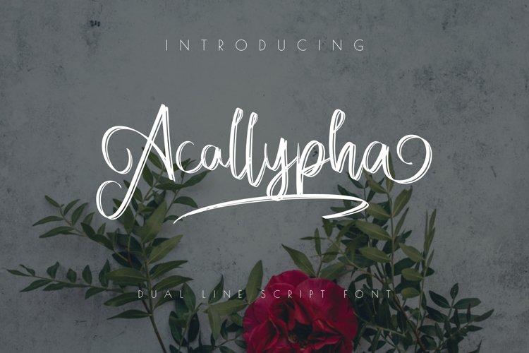 Acallypha Handwritten Font example image 1