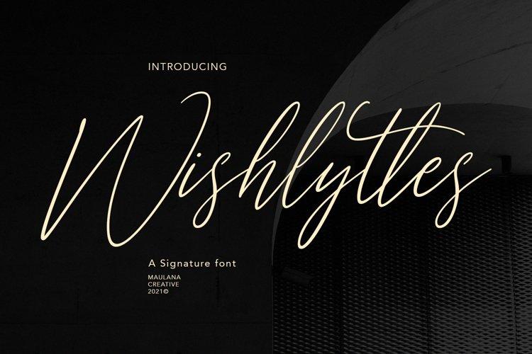 Wishlyttes Signature Font example image 1