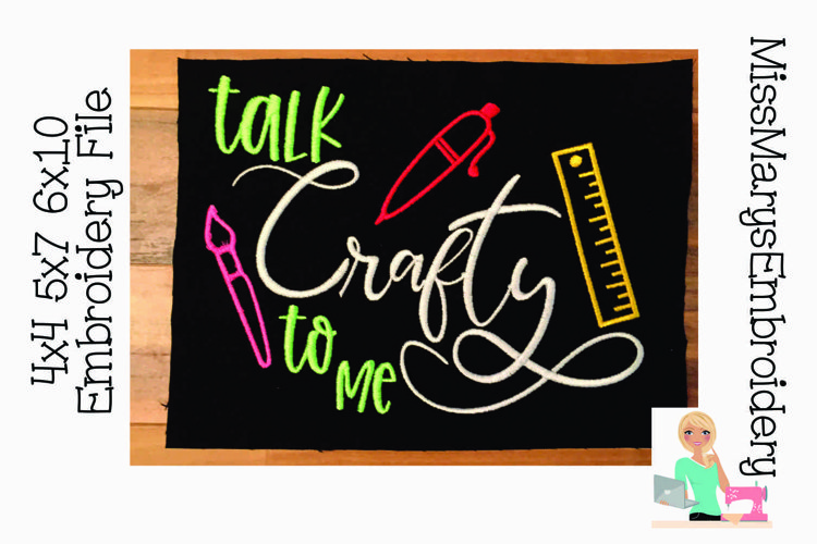Talk Crafty To Me Embroidery File example image 1