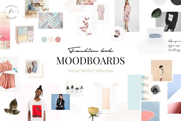 Fashion Look Mood Boards Collection