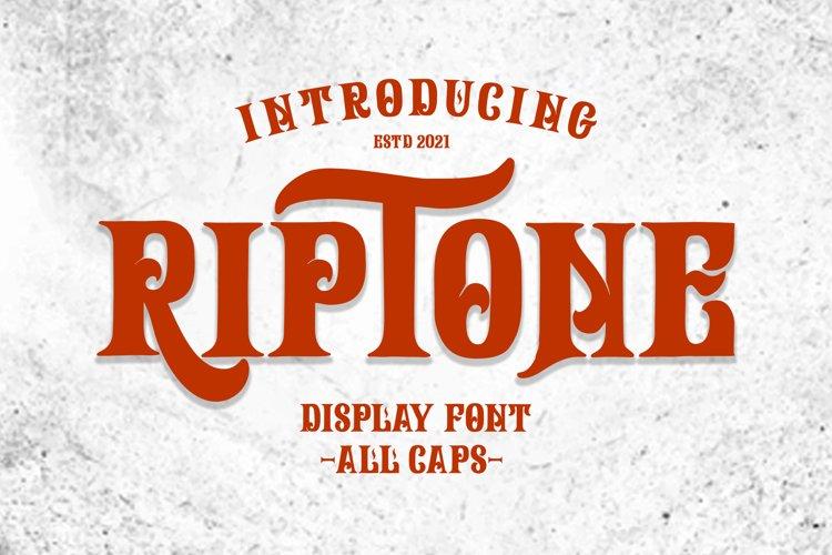 Riptone - Display font example image 1