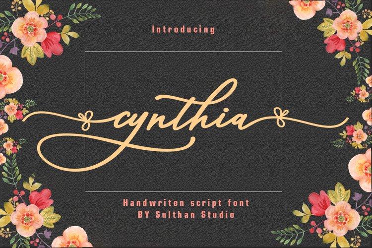 Cynthia script example image 1