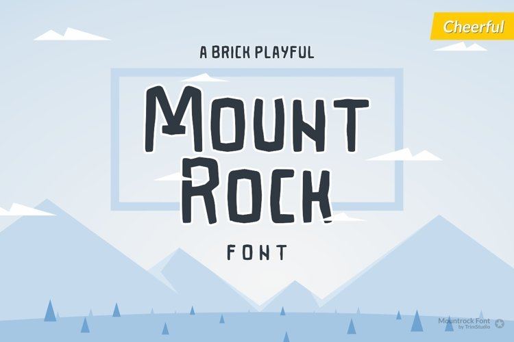 Mountrock - Summer Camp Font example image 1