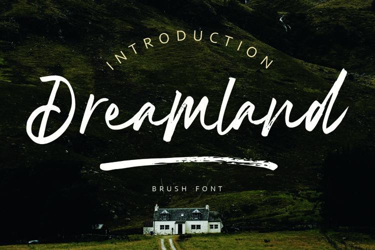 Dreamland | Brush Font example image 1