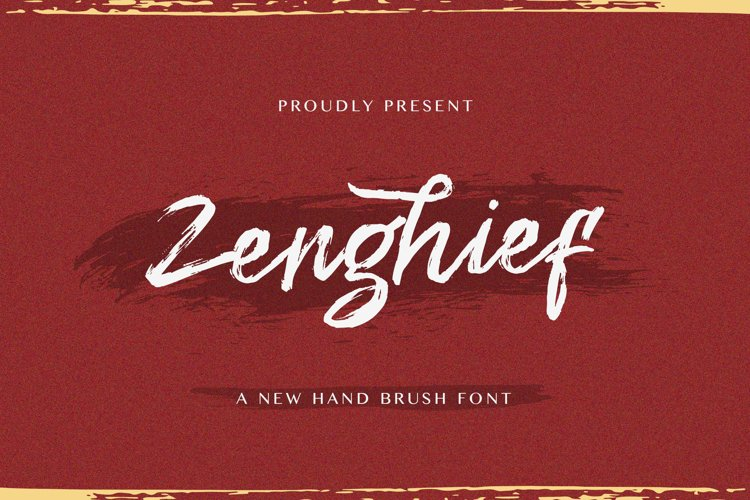 Zenghief - Hand Brush Font example image 1