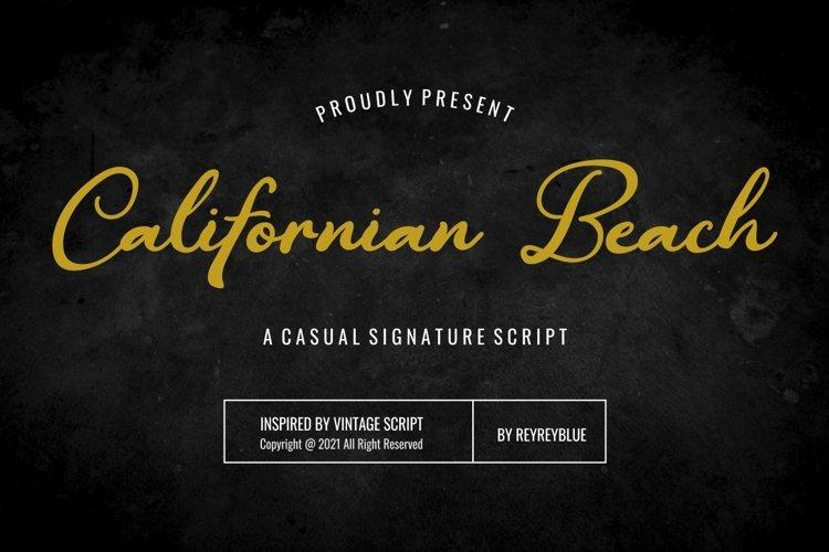 Californian Beach - Signature Font example image 1