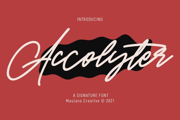 Accolyter Signature Font example image 1