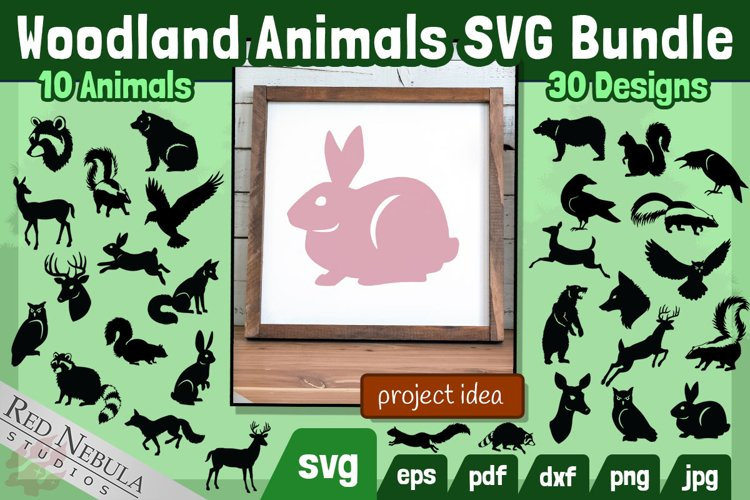 Woodland Animals SVG Bundle | 30 Designs, 10 Forest Animals