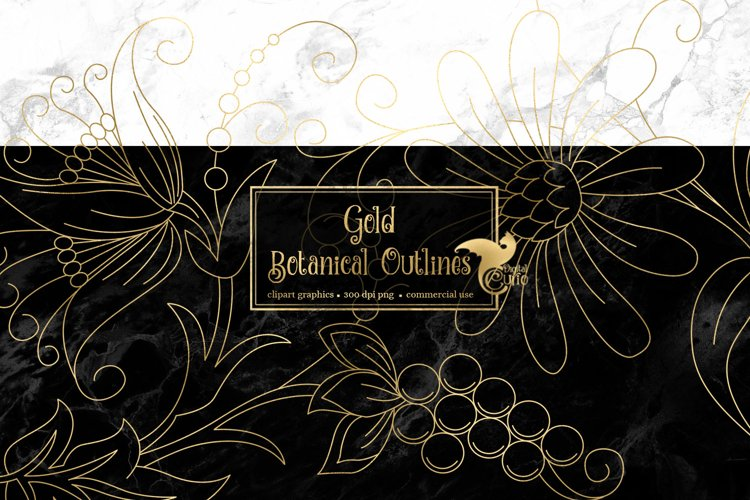 Gold Botanical Outline Elements example image 1