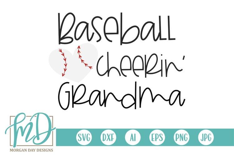 Baseball Heart - Baseball Cheerin' Grandma SVG example image 1