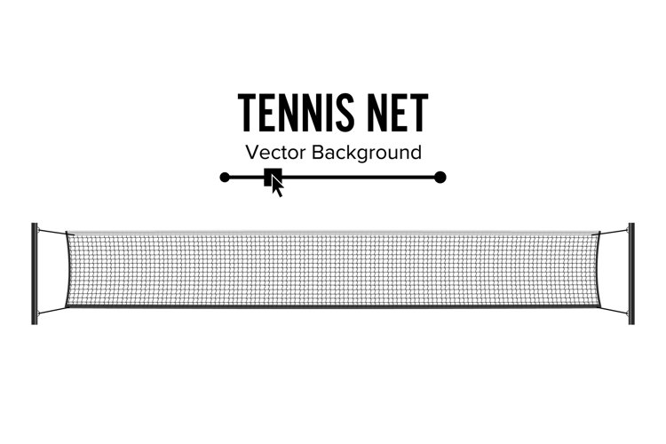 Tennis Net. Realistic Net Used In The Sport Game Of Tennis. example image 1