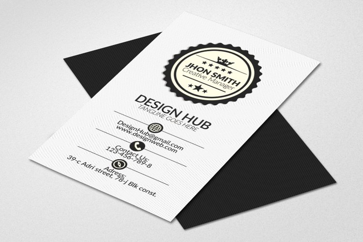 Retro Vertical Business Visitig Cards example image 1