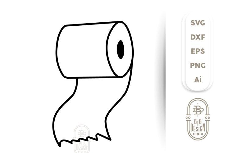 Toilet Paper SVG - Toilet Paper Roll Clipart- Quarantine SVG example image 1