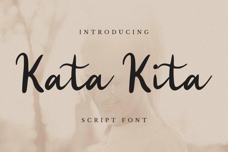 Web Font Kata Kita Font example image 1