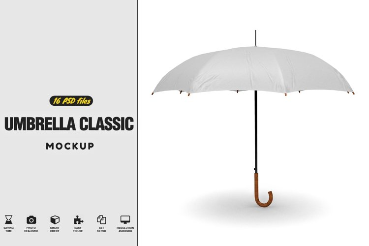 Umbrella Classic Open Mockup example image 1