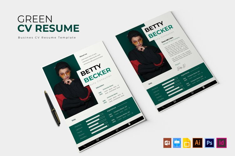 Green | CV & Resume example image 1