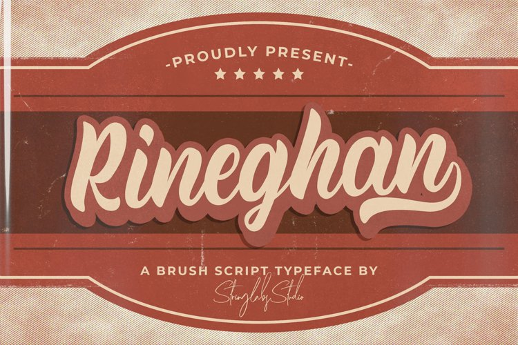 Rineghan - Bold Script Font example image 1