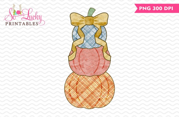 Stacked Pumpkins printable sublimation design example image 1
