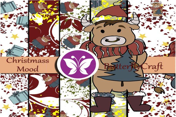 Christmas mood digital paper example image 1