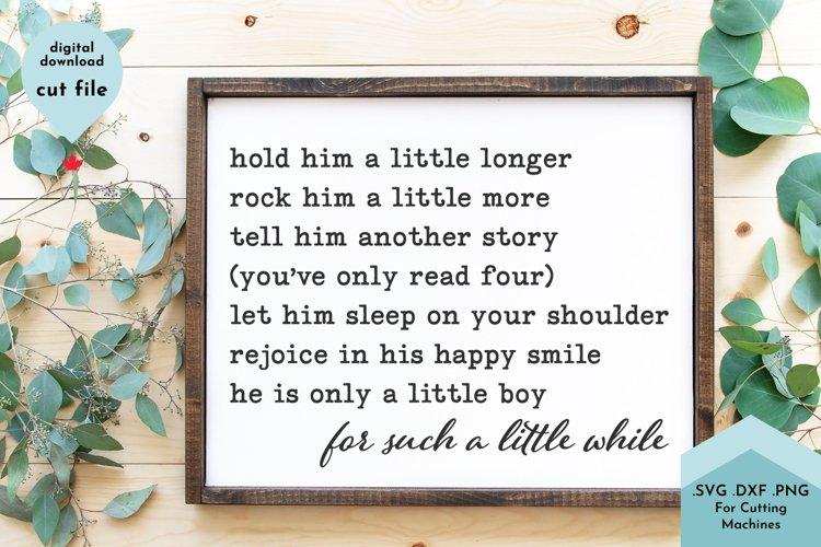 Baby Boy svg - Nursery Sign svg